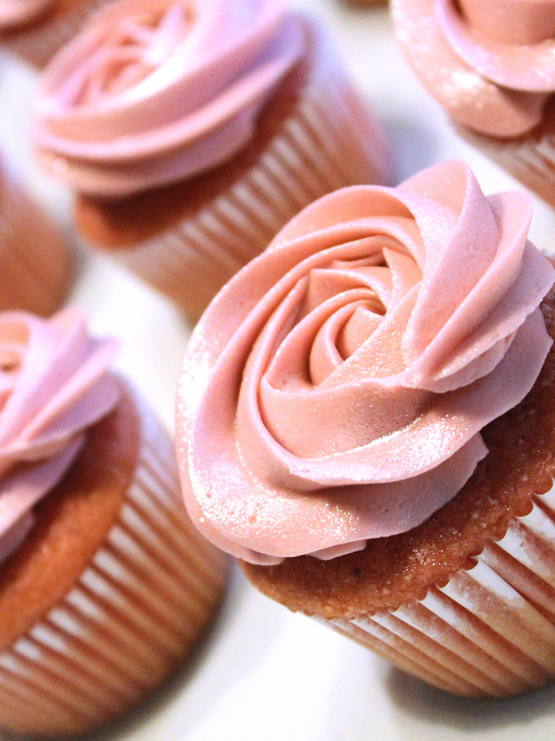 Pink Shimmer Cupcakes