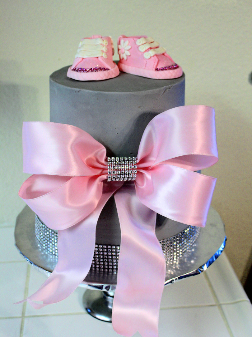 Baby Girl Shoes Cake
