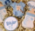 Congratulations New Baby Boy Blue Sugar Cookies Giraffe