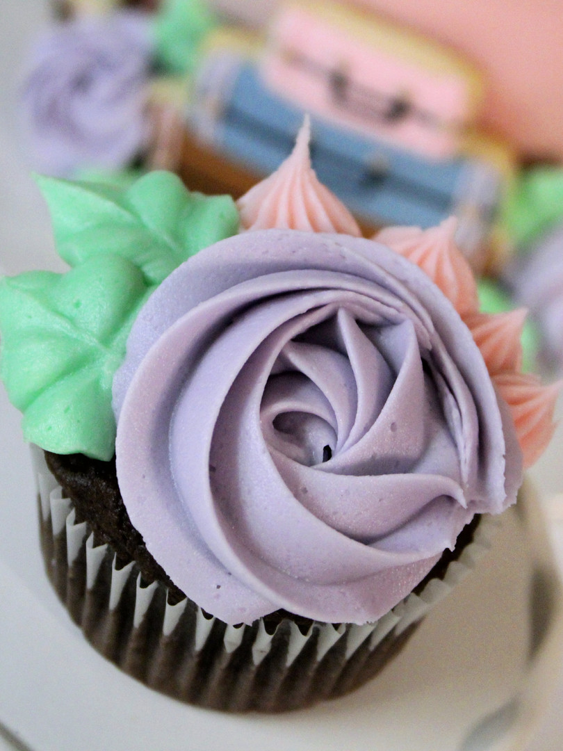 Pastel Floral Cupcakes