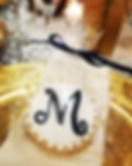 Wedding Monogram Cookie Favors