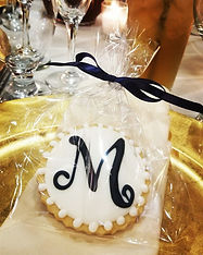 Wedding Monogram Cookie Favors