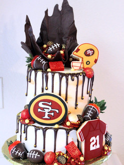 2-Tiered 49ers Cake