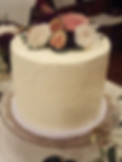 Floral Wedding Cake with Figs