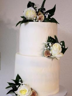 Floral & Fig Wedding Cake
