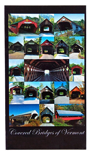 Small Covered Bridges of Vermont Magnet 3.5″ x 2″