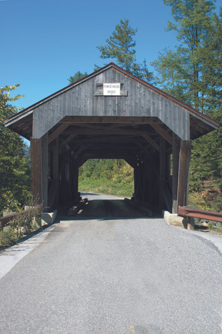 Power House Covered Bridge, also known as the School Street Covered Bridge