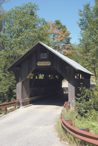 Gold Brook Covered Bridge, also known as Stowe Hollow Bridge or Emily's Bridge