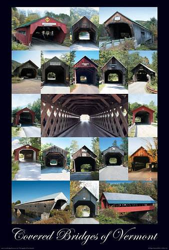 Covered Bridges of Vermont Poster