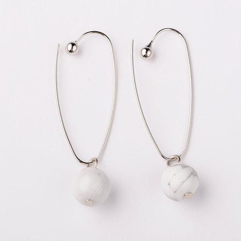 Natural Howlite Bead Earrings