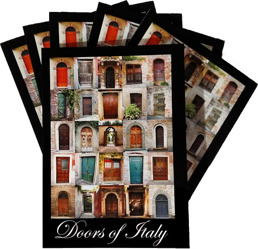 SIX – Doors of Italy 5″ x 7″ Cards
