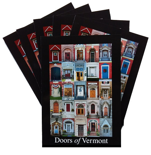 SIX – Doors of Vermont 5″ x 7″ Cards (blank inside)