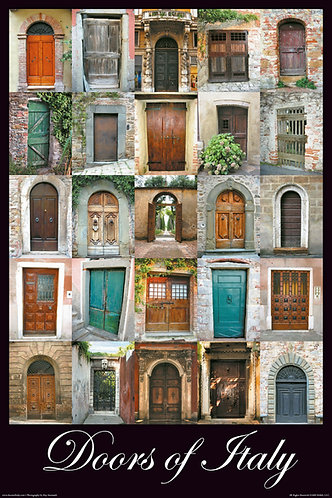 Doors of Italy - English - Large  – 18″ x 26.5″