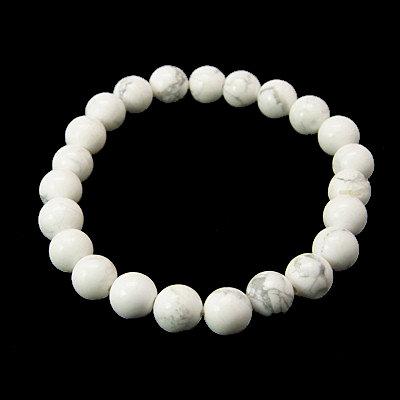 Carrara Marble Inspired – Howlite Beaded Bracelet