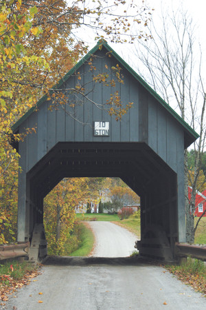 The original Bowers Covered Bridge