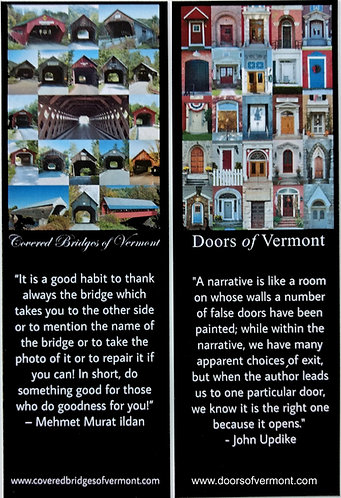 Covered Bridges & Doors of Vermont Bookmarks - Two for $3
