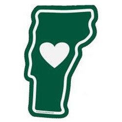 Heart Is In Vermont Sticker