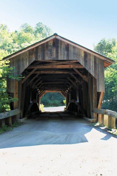 Grist Mill Covered Bridge, also known as the Scott Covered Bridge, the Bryant Covered Bridge, and the Canyon Covered Bridge