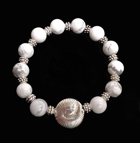 Tibetan Themed – Howlite Beaded Bracelet
