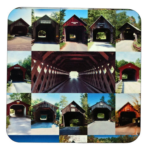 Covered Bridges of Vermont Coaster Set of Four