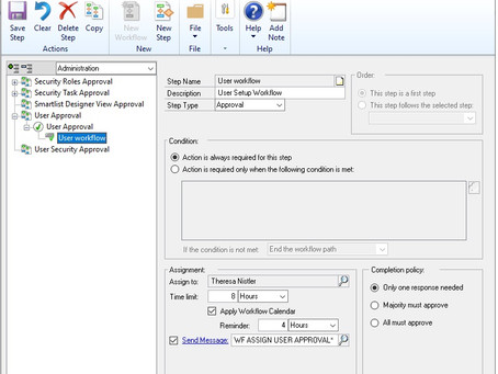 Dynamics GP October 2019 Feature of the Day - User Workflow