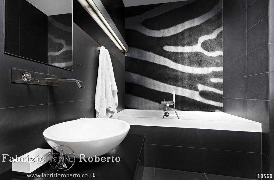 Зебра мозаика в ванную