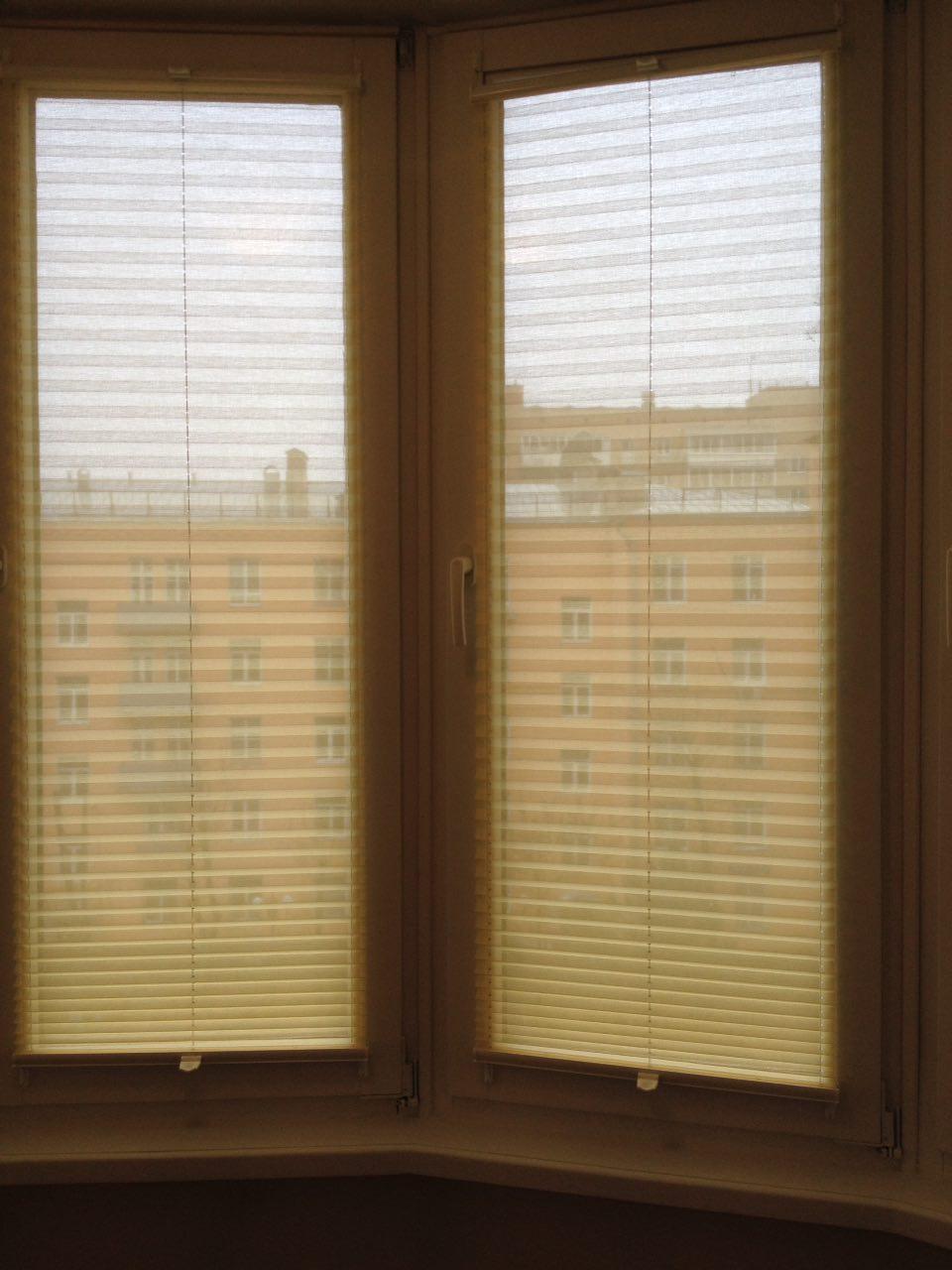 Плиссе на эркерные окна
