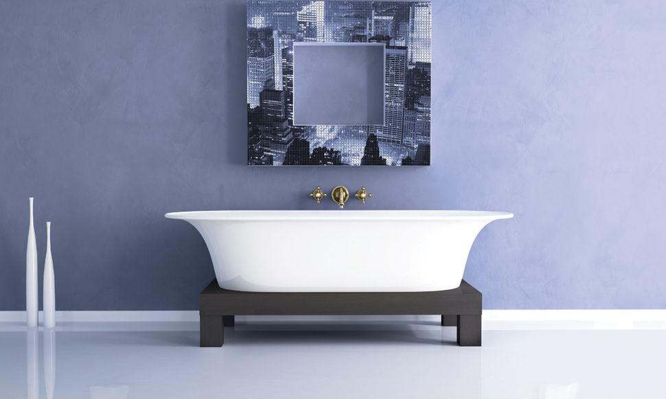Мозаика в ванную город