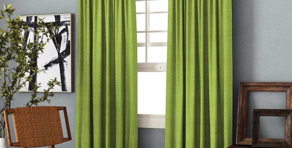 """Комплект штор с подхватами """"Ибица"""" зеленый"""