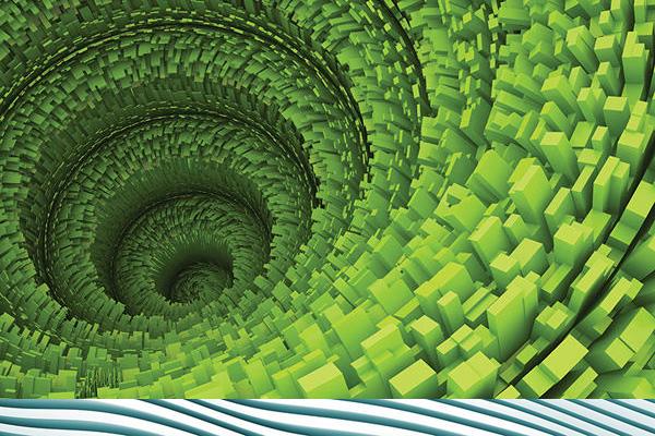 spiral-zelenaya-3d-freska-zakazat