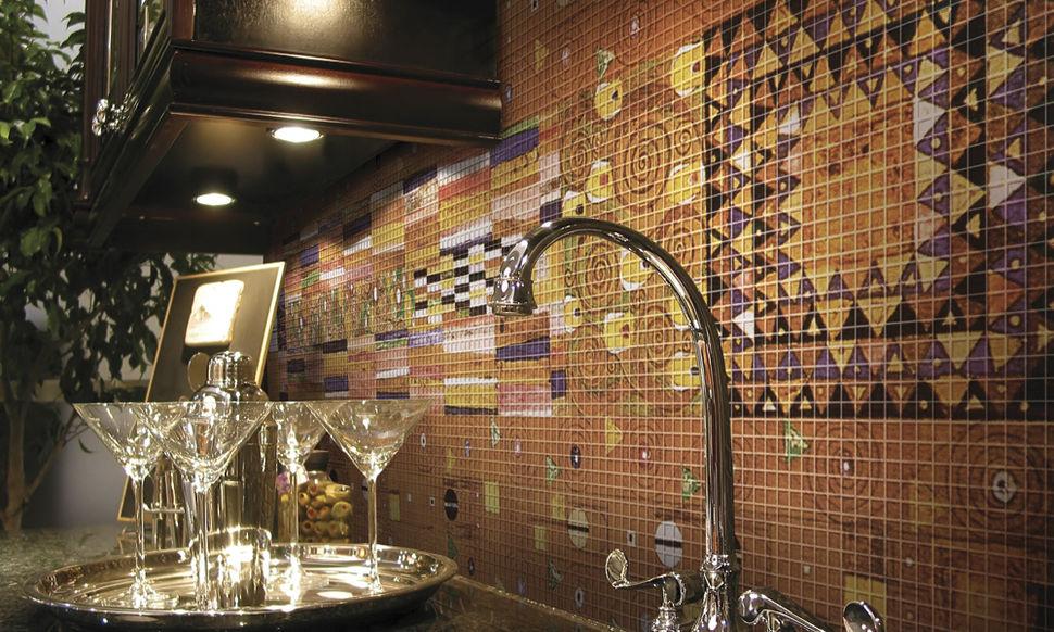 Мозаика на фартук кухни узоры