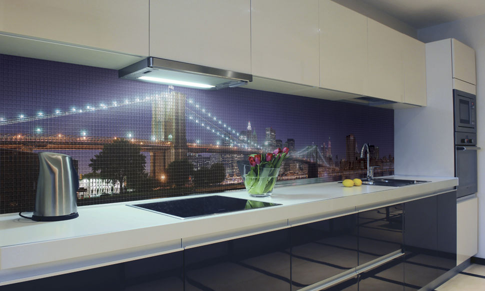 Мозаика на фартук в кухню мост
