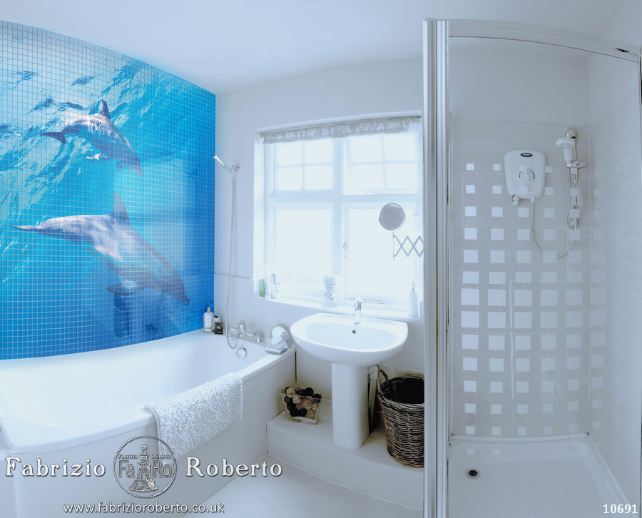 Акулы мозаика в ванную