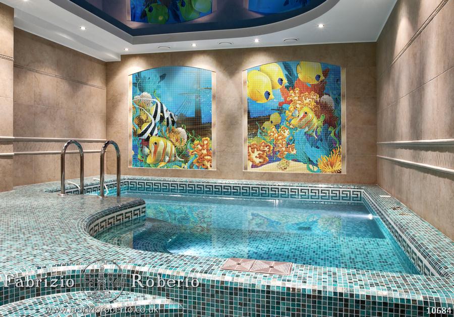 Рыбки мозаика в бассейн