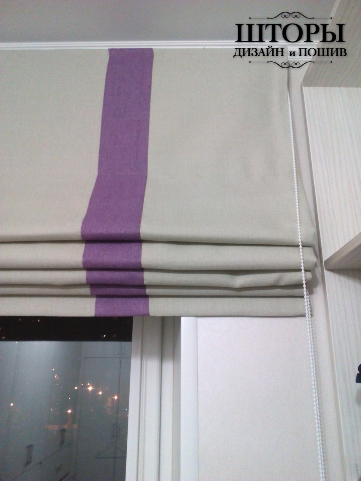 Римская штора на окно гардеробной