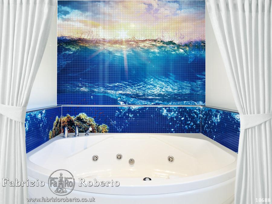 Море мозаика в ванную