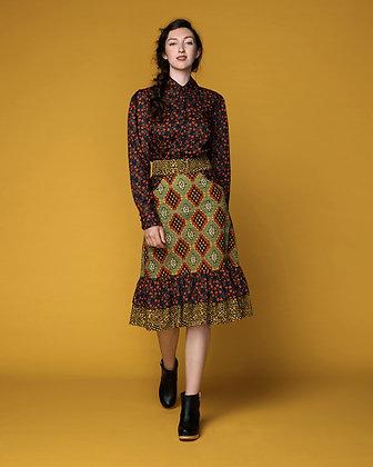 Global gatherer skirt - yellow