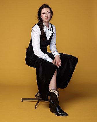 Hendrix waistcoat - black velvet