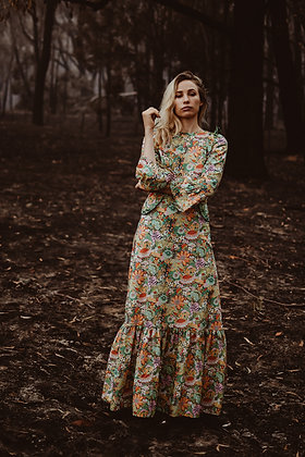 The Rainforest Countess Dress Psychedelic Rain