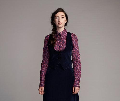 Hendrix waistcoat - navy velvet