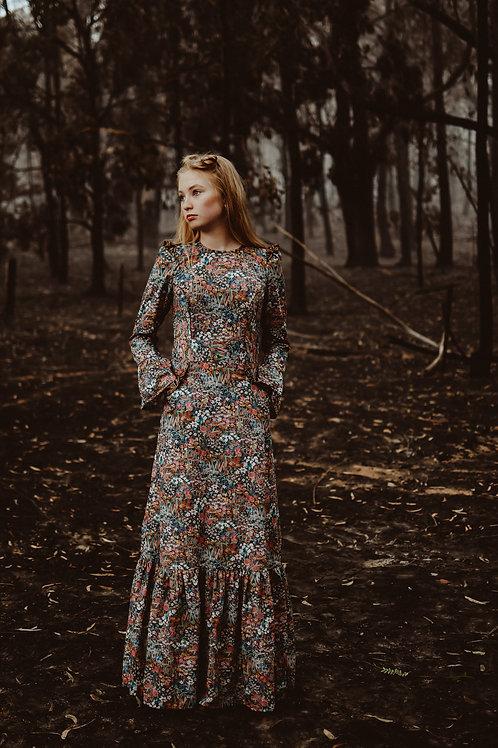 The Rainforest Countess Dress Midnight Garden