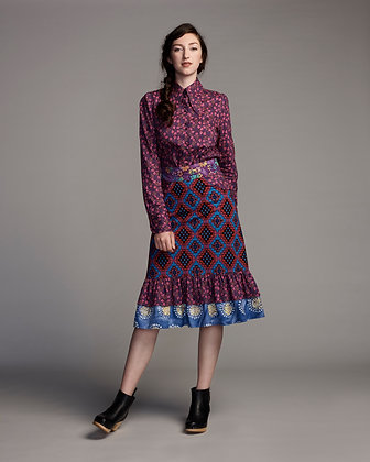 Global gatherer skirt - purple