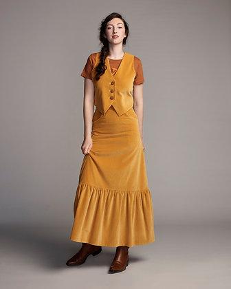 Hendrix skirt - gold velvet