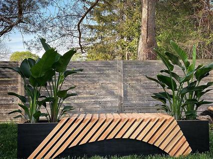 Exterior Planter Bench