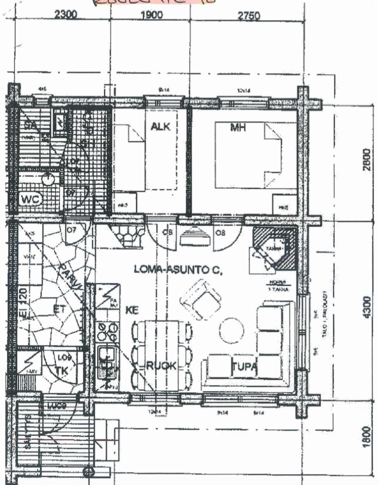 Ruka Chalet Plage Oliver - layout