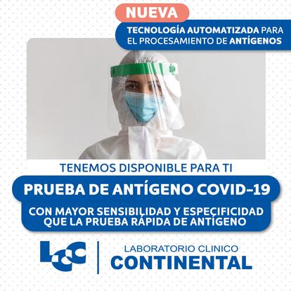 Prueba de antígeno para COVID-19