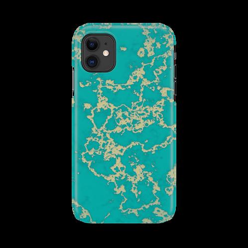 Mobilskal Golden Vein Turquoise till iPhone 11