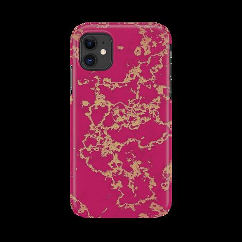 Mobilskal Golden Vein Cerise till iPhone 11