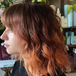 Copper to rosy color melt to this babeee
