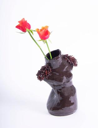 African Woman Vase